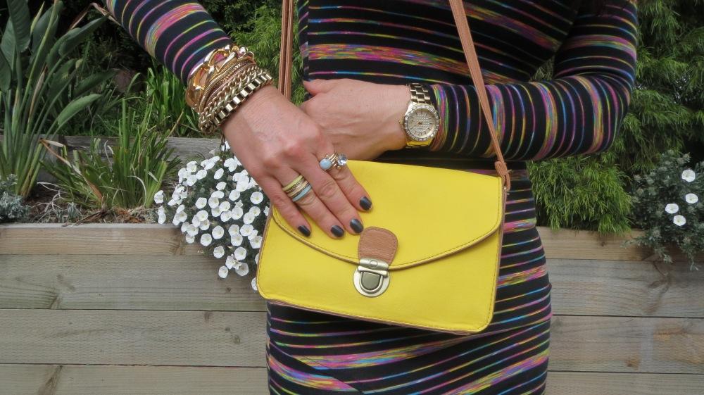 Yellow boy bag, jewels 1