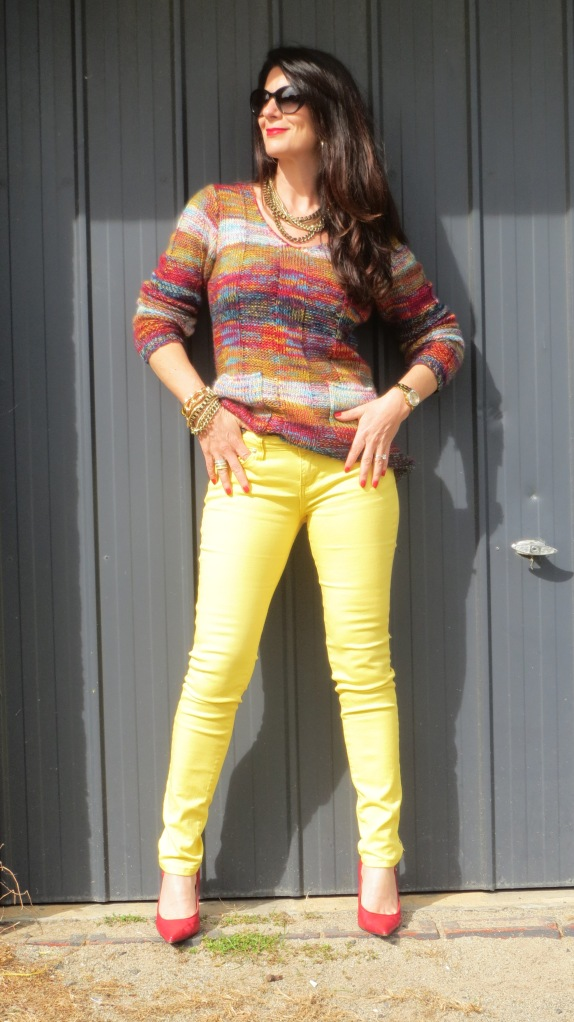Yellow jeans 2