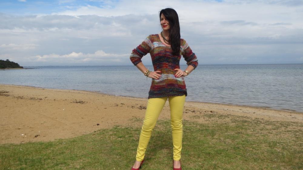 Yellow jeans slider 1