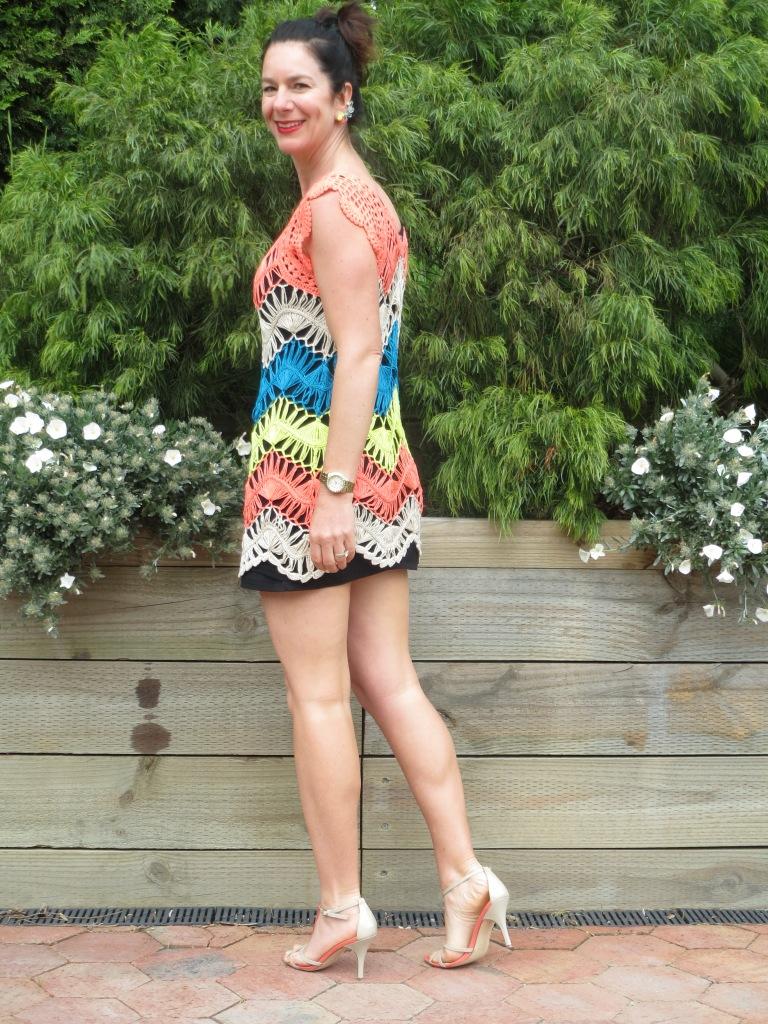 Colorful crochet dress 1