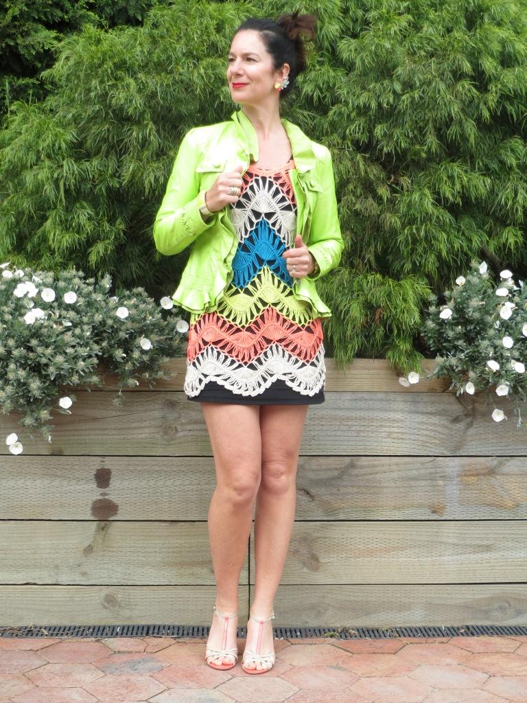Colorful crochet dress 3