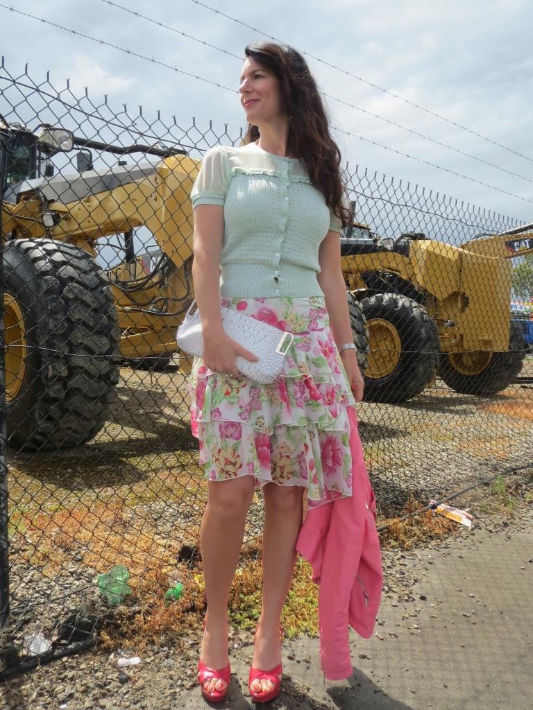 Floral ruffle skirt 1