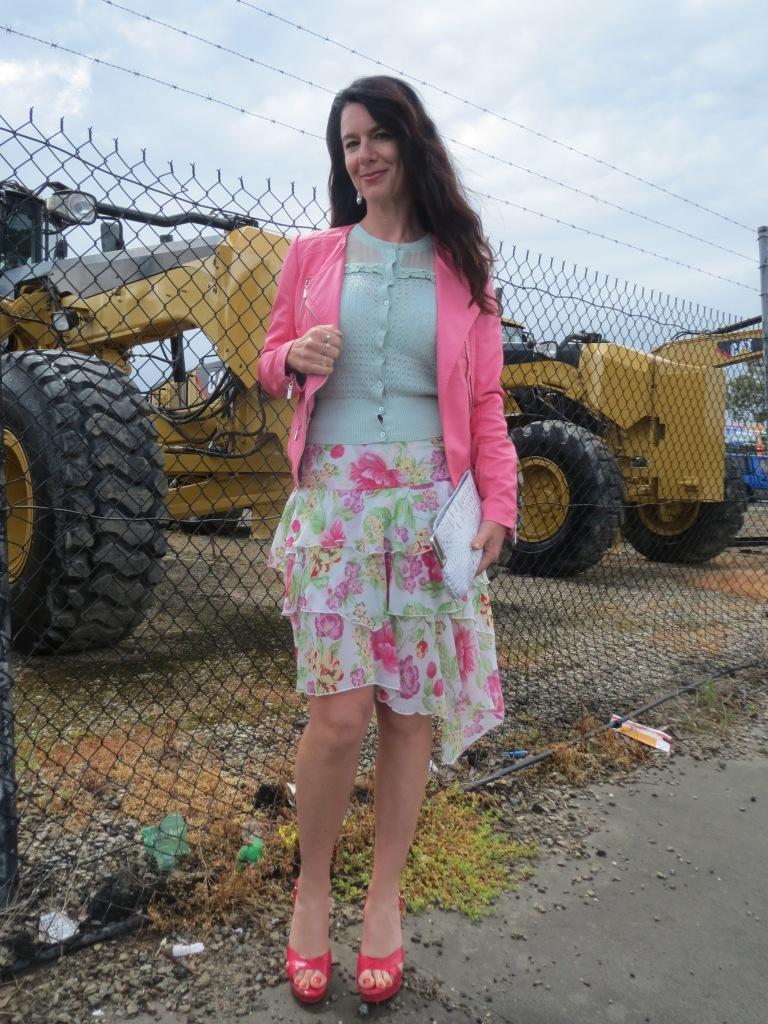 Floral ruffle skirt 3