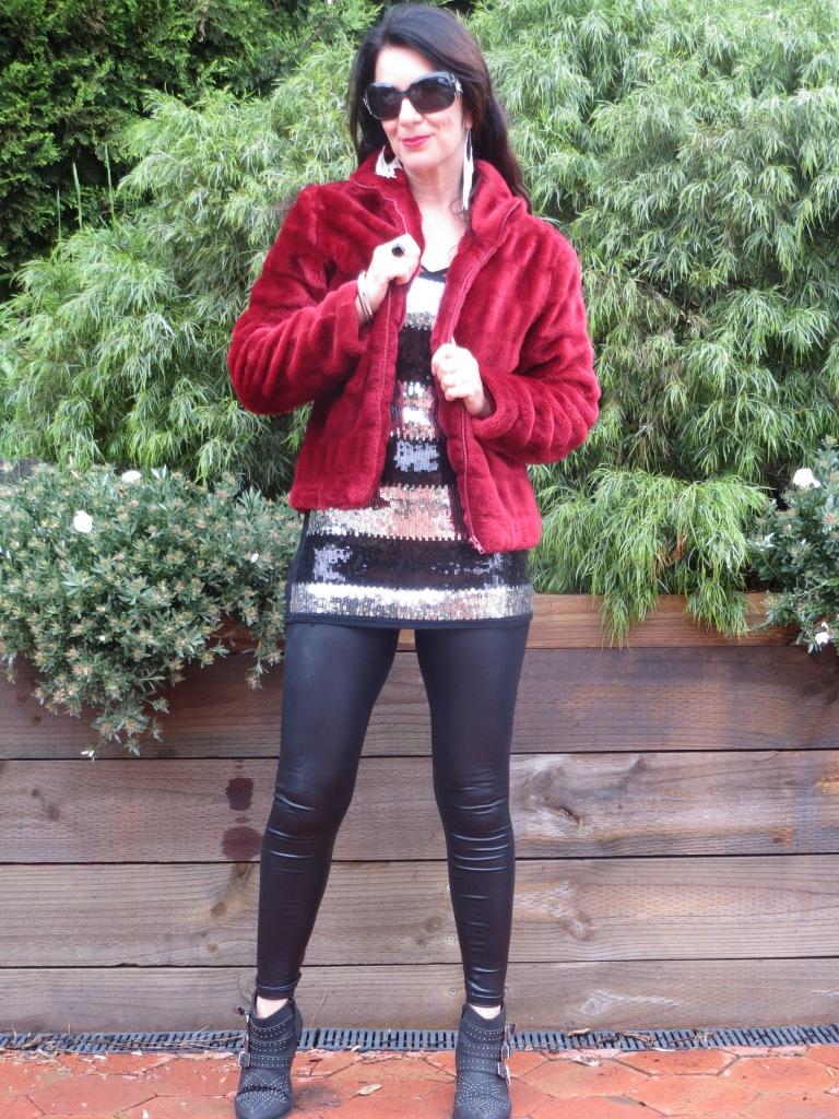Red fur, sequins 2