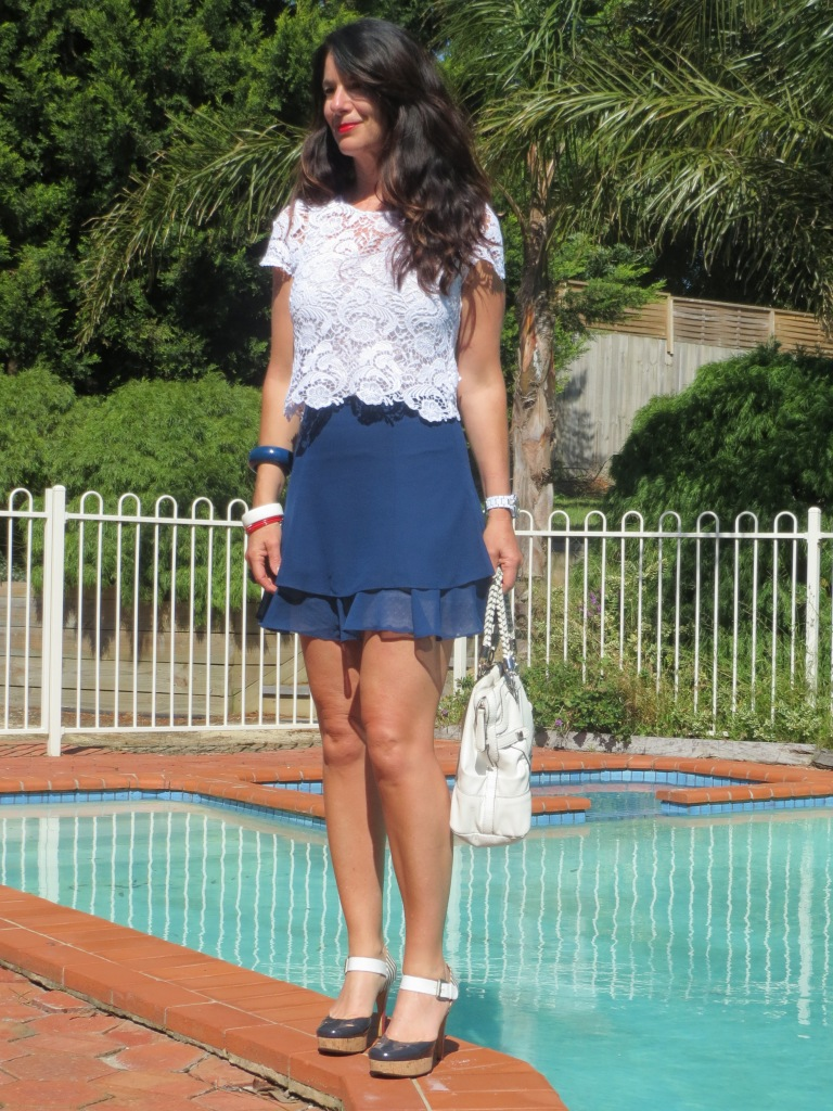 Asos blue skirt 1