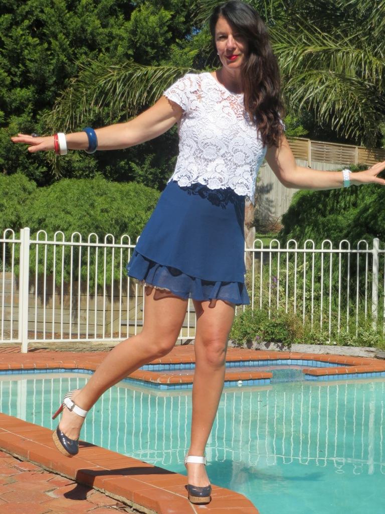 Asos blue skirt 2