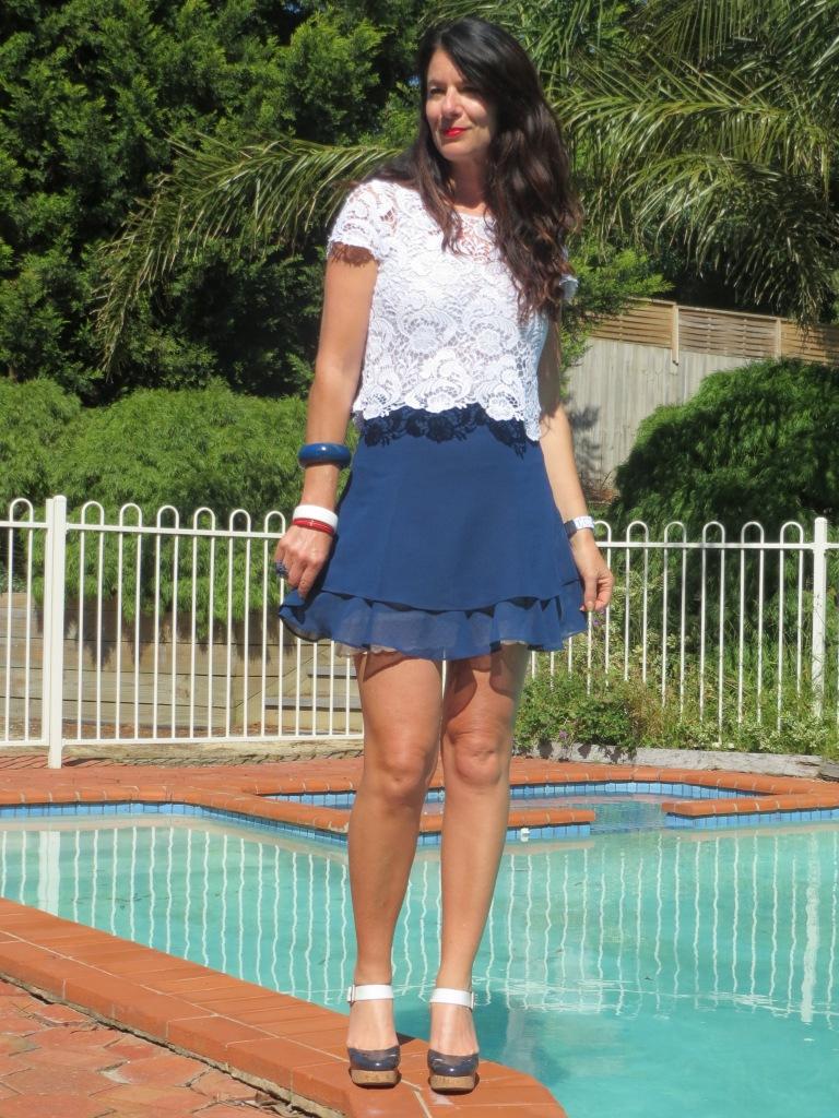 Asos blue skirt 3