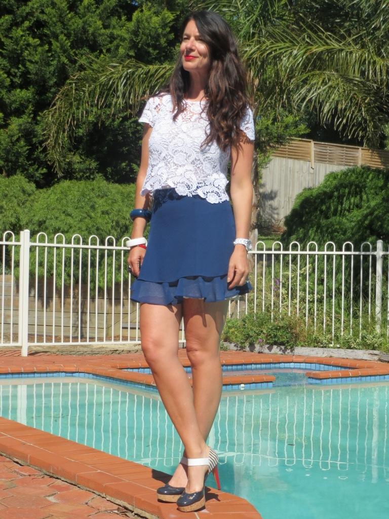 Asos blue skirt 4