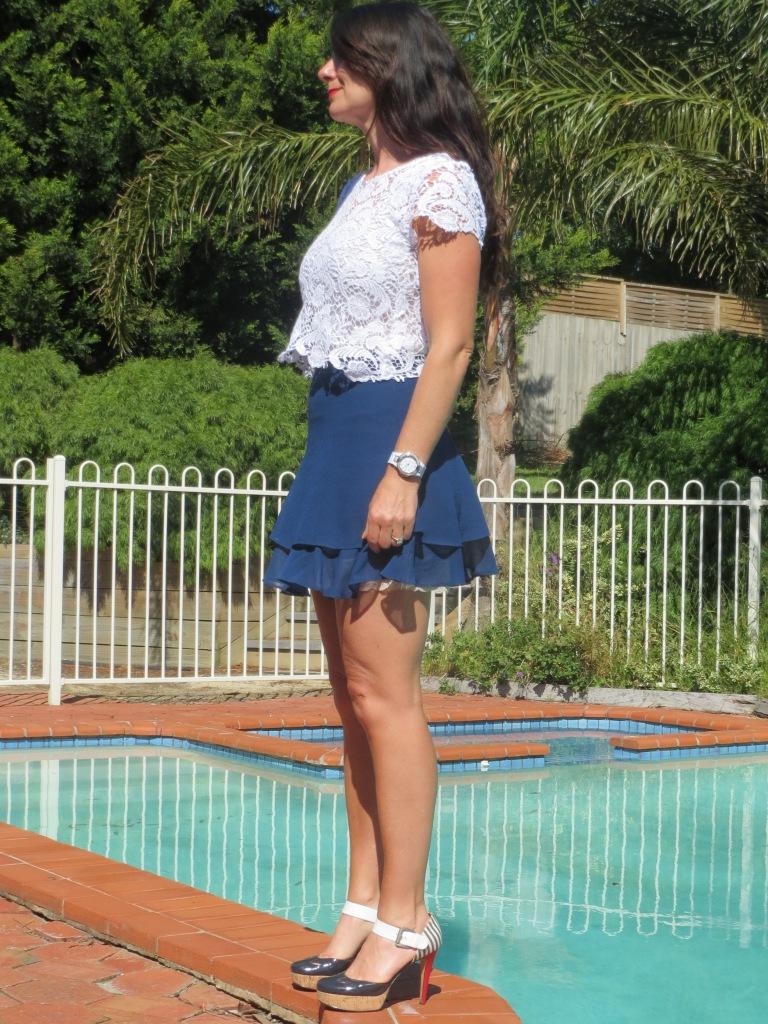 Asos blue skirt 5