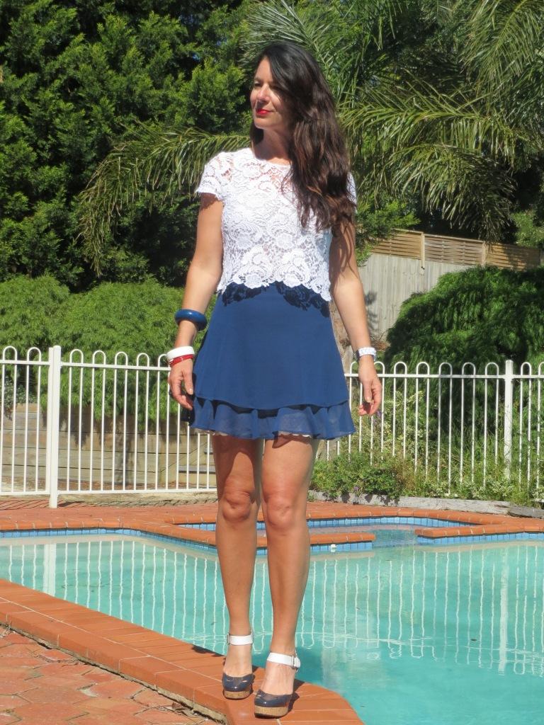 Asos blue skirt 6