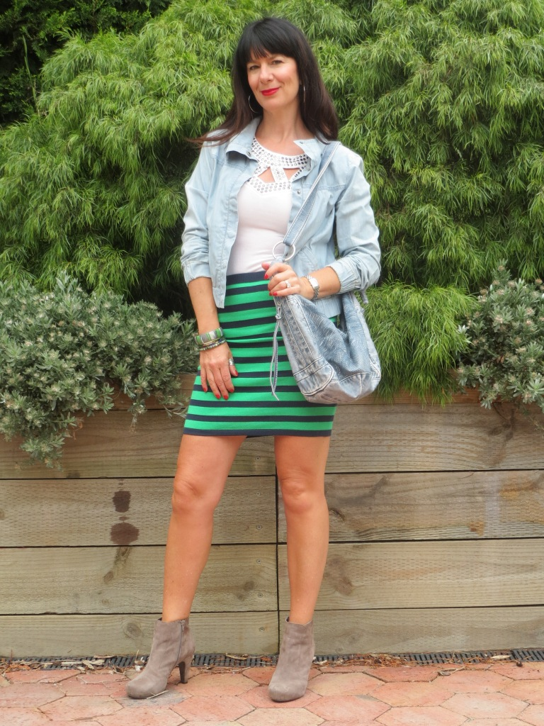 Coles striped skirt 1