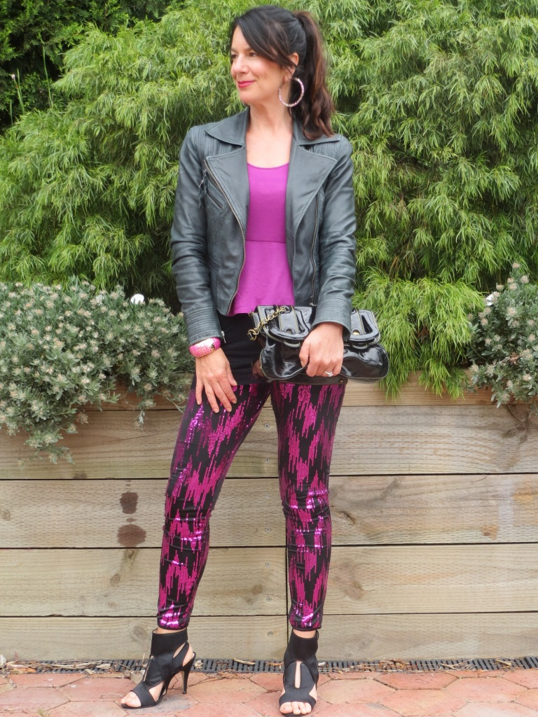 Sequinned pants 1