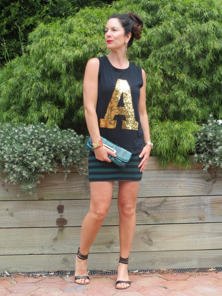 Stripe skirt, gold A 3