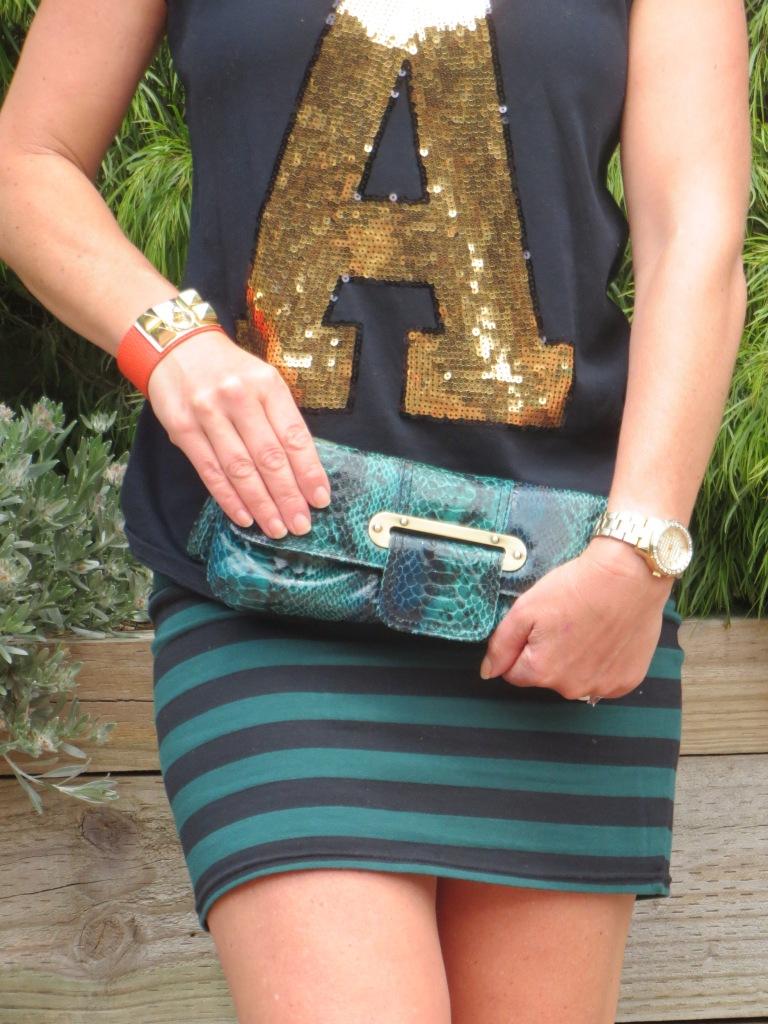Stripe skirt, gold A 4