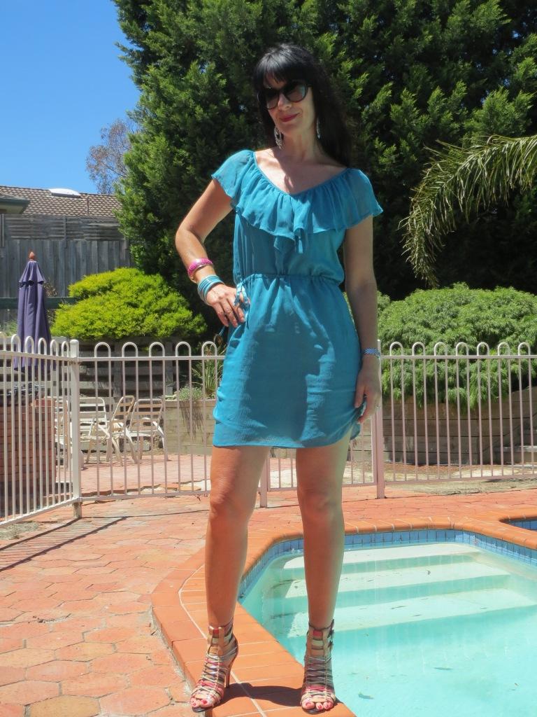 Green Grab dress 1