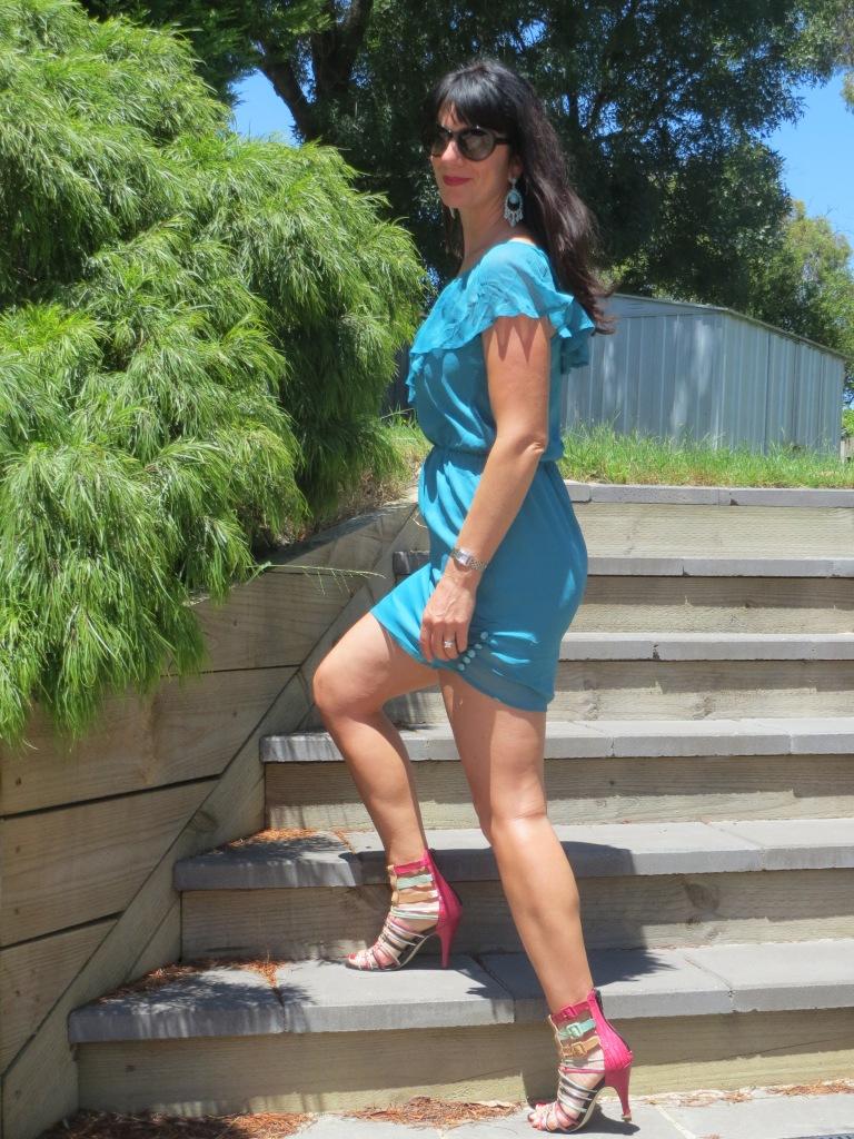 Green Grab dress 2