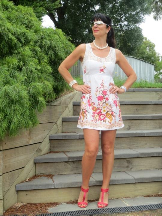 Lace floral dress 1