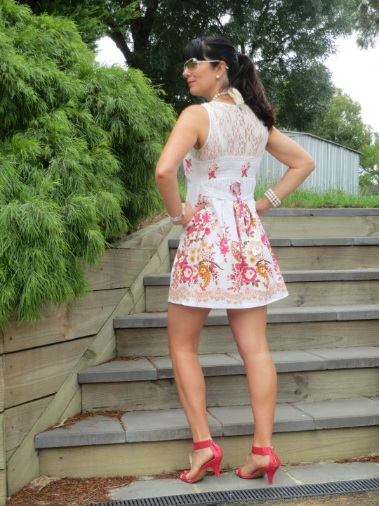 Lace floral dress 3