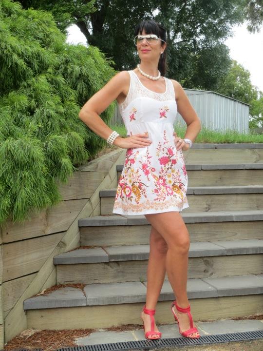 Lace floral dress 4