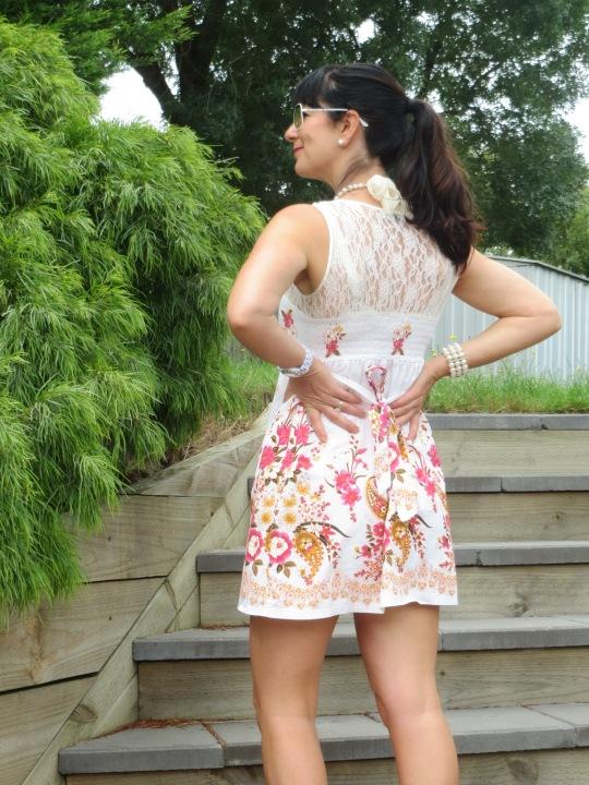 Lace floral dress 5
