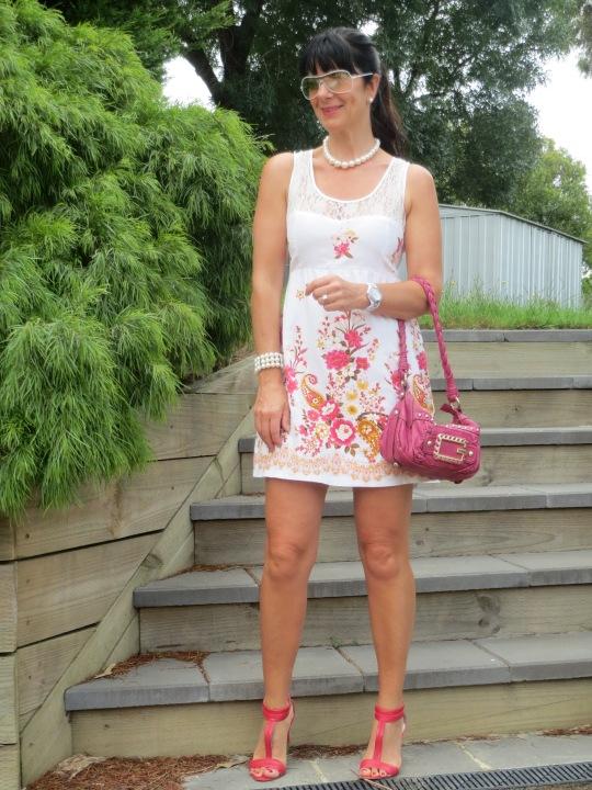 Lace floral dress 7