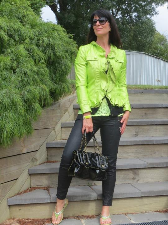 Neon green jkt 1